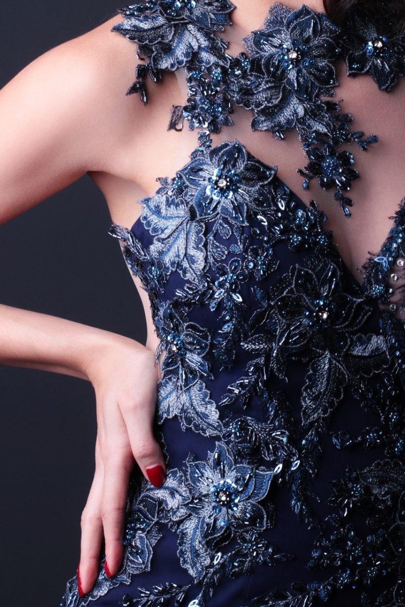 dentelle brodée haute couture