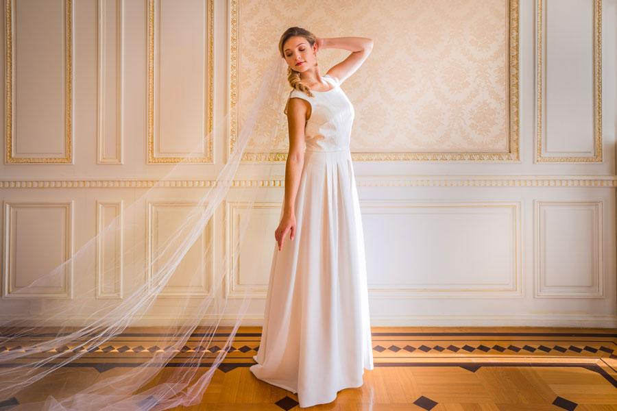 Robe de Mariée avec voile